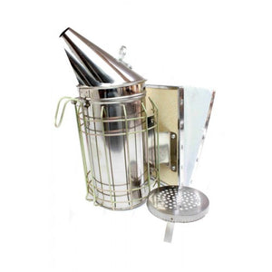 Large stainless steel smoker with guard - BUDGET