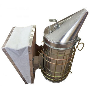 Large galvanised smoker with guard - BUDGET