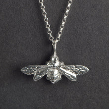 Load image into Gallery viewer, Pewter Bee Necklace (Small) - Glover & Smith
