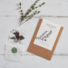 Load image into Gallery viewer, Botanique Workshop Kitchen Garden Seed Set - Chilli, Mint, Basil and Thyme.