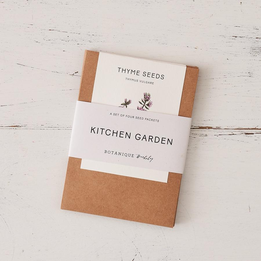Botanique Workshop Kitchen Garden Seed Set - Chilli, Mint, Basil and Thyme.
