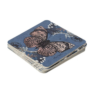 Re-usable/reversible Bee Print Paper Coasters - pack of 10