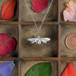 Pewter Bee Necklace (Small) - Glover & Smith