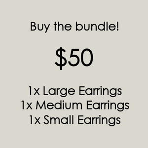 Black Feathered Earring Bundle