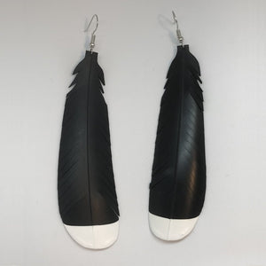 Large Feathered Huia Earrings