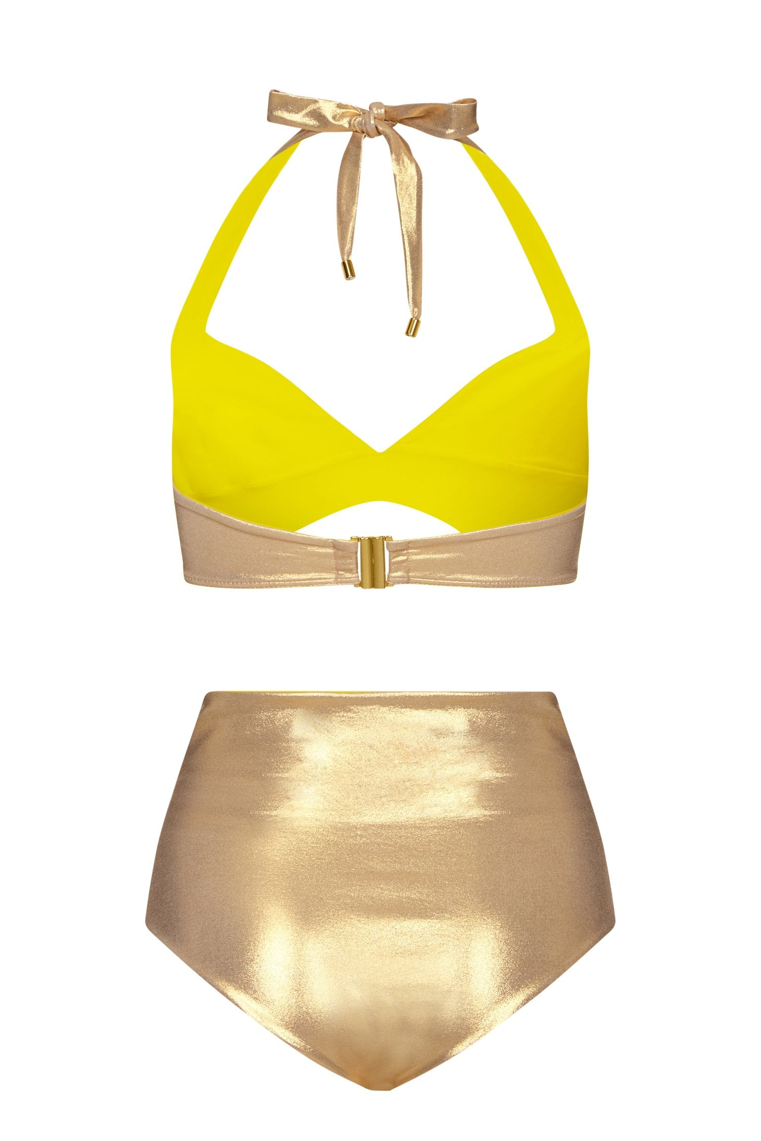 Joy Gold Bikini Back