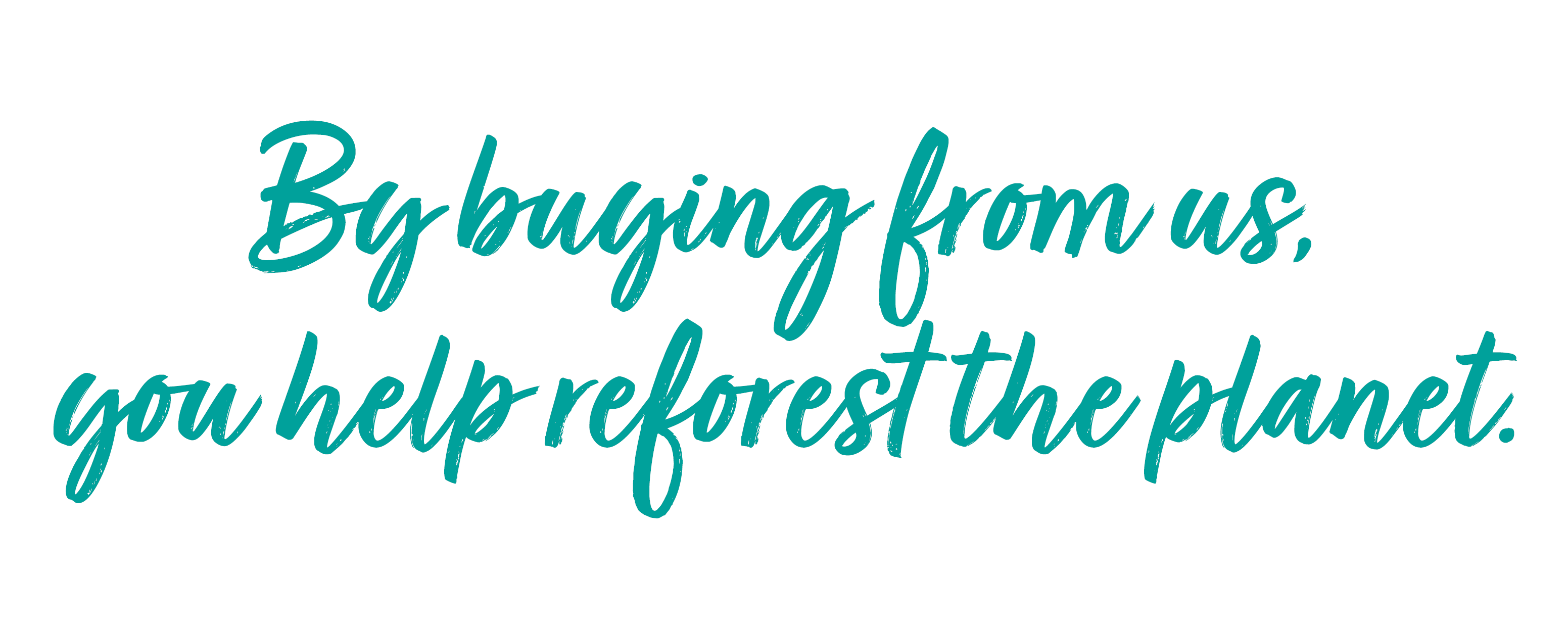 By buying from us, you help to reforest the planet