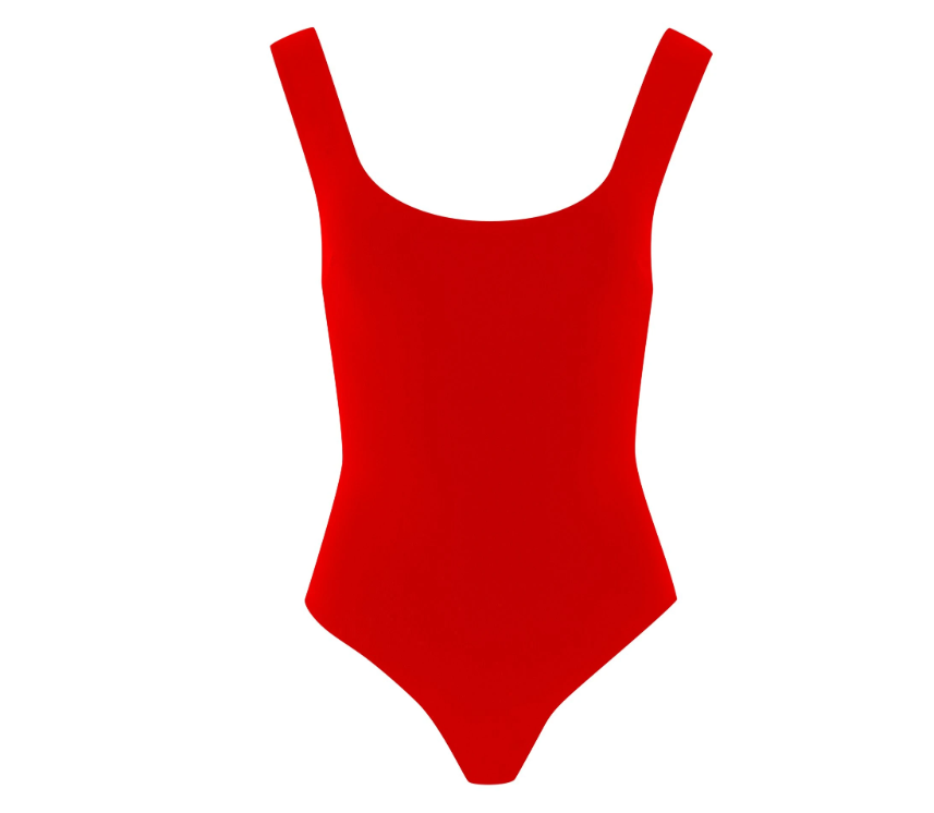 Broochini Red Swimsuit Style Compare