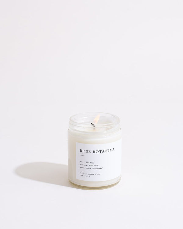 Brooklyn Candle - bougie minimalist Rose botanica