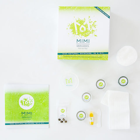GREEN GODDESS <br>Natural Face Mask Kit