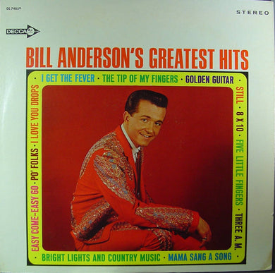 Anderson, Bill -- Bill Anderson's Greatest Hits - The Pour House Record Shop