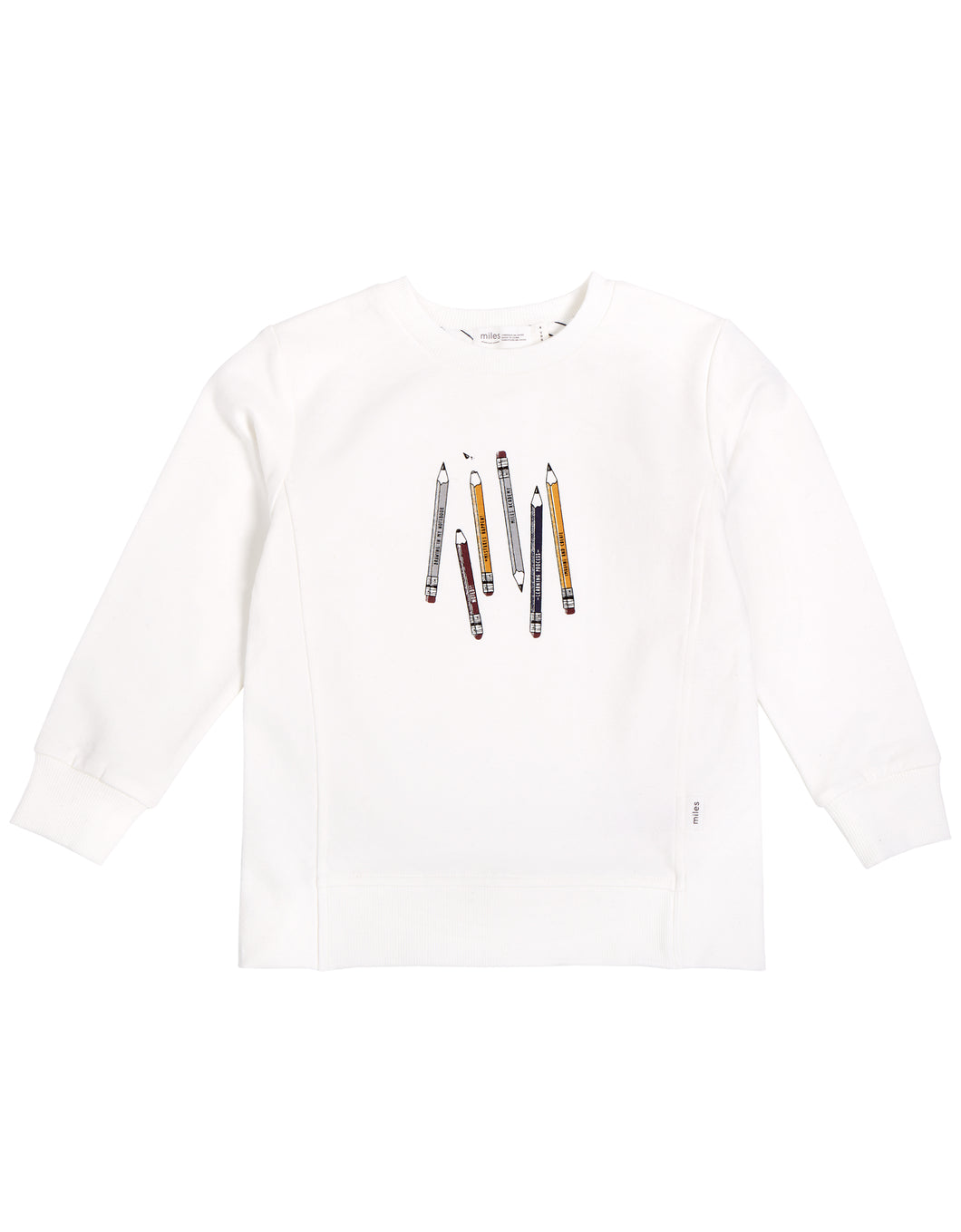 Miles Pencils Sweatshirt White