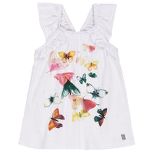 Load image into Gallery viewer, Deux Par Deux Butterfly ruffled tank Top