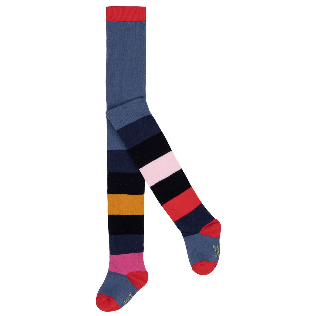 Deux Par Deux Stripe Tights Multicolur