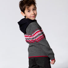 Load image into Gallery viewer, Deux Par Deux Hooded Jacquard Sweater