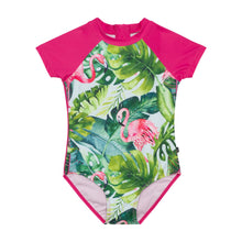 Load image into Gallery viewer, Deux Par Deux One Piece Flamingo Swimsuit with Sleeve