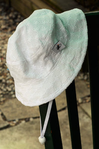 Fresh White Eyelet Kid's Camp hat