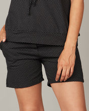 Load image into Gallery viewer, Pistache Polka Dot Terry Cotton Shorts