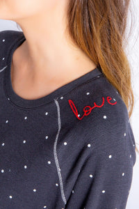 PJ Salvage Love More Dots Top