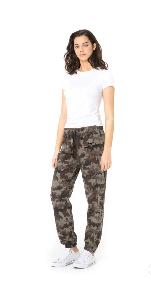 Lazypants Adult Joggers Camo Green