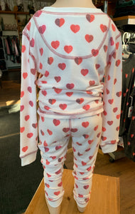 PJ Salvage Kid's Hearts Pyjamas
