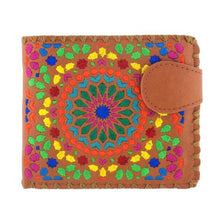 Load image into Gallery viewer, Lavishy Vegan Caramel Circle Embroidered  Wallet
