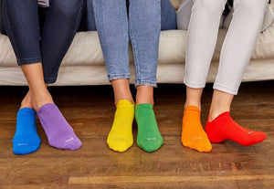 HUE 6-pack Rainbow Ankle Sox