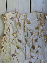 Load image into Gallery viewer, Gold Leaf Baby Dress and Cardigan Set