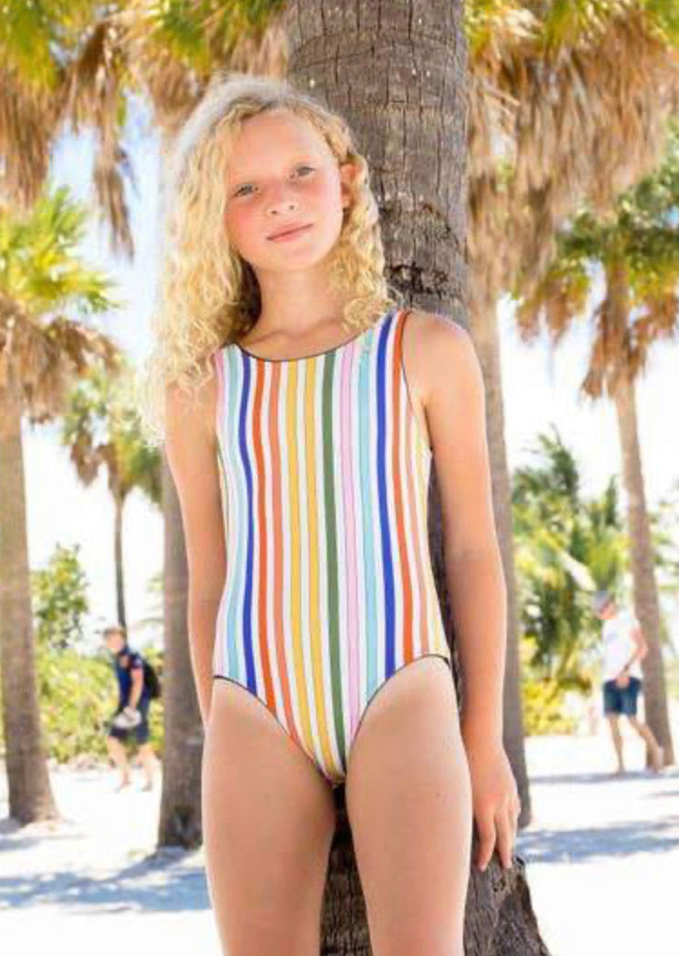 Limeapple Reversible One Piece Swimsuit