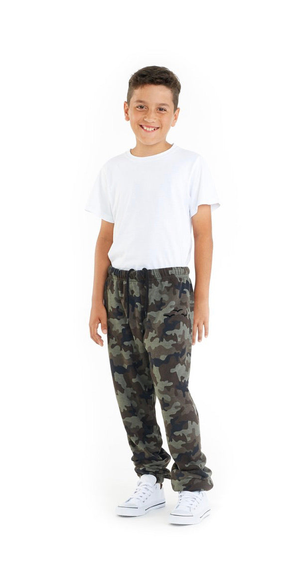 Lazypants Kid's Joggers Green Camo