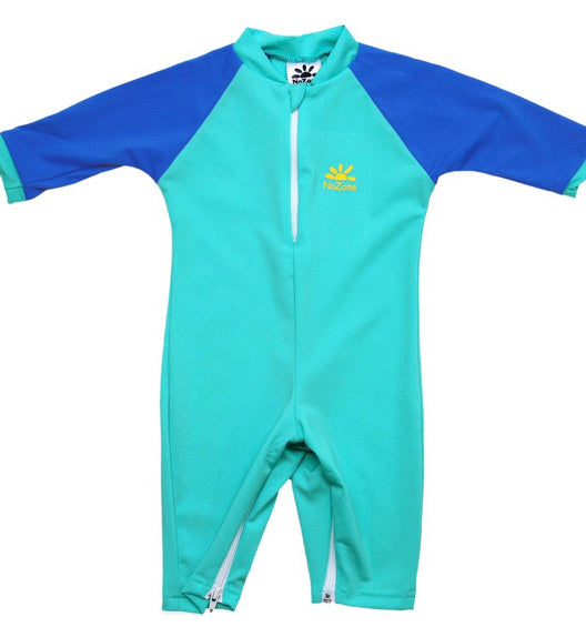 No Zone Aqua/Royal Baby Swimsuit