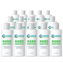 Load image into Gallery viewer, Clinicians Health Solutions Liquid Hand Sanitizer 2oz Bottle 15 Pack
