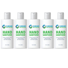 Load image into Gallery viewer, Clinicians Health Solutions Liquid Hand Sanitizer 2oz Bottle 5 Pack