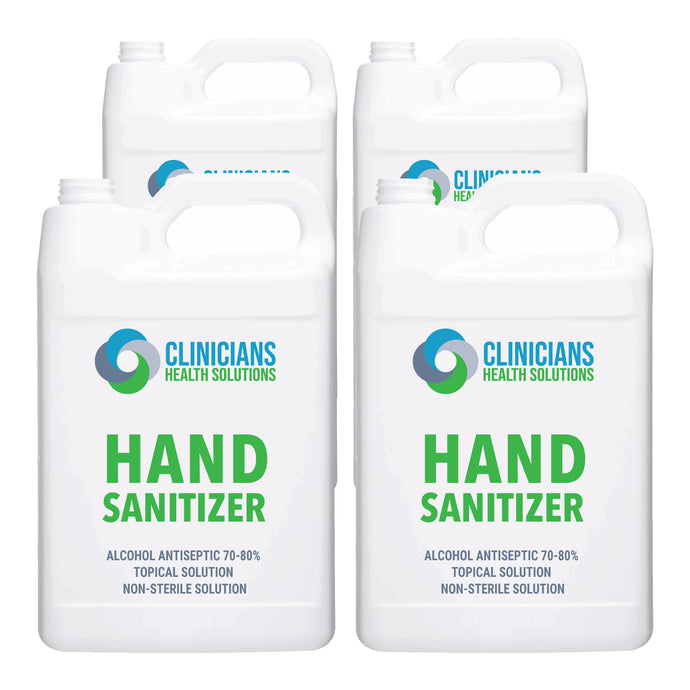 Clinicians Health Solutions Liquid Hand Sanitizer 1 Gallon 4 Pack