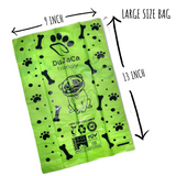 Compostable Dog Poop Bags. (Buy box 120 Disposal Baggies,large size 9X13inch)