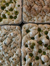 Load image into Gallery viewer, Kalamata Olive & Rosemary Sourdough Focaccia