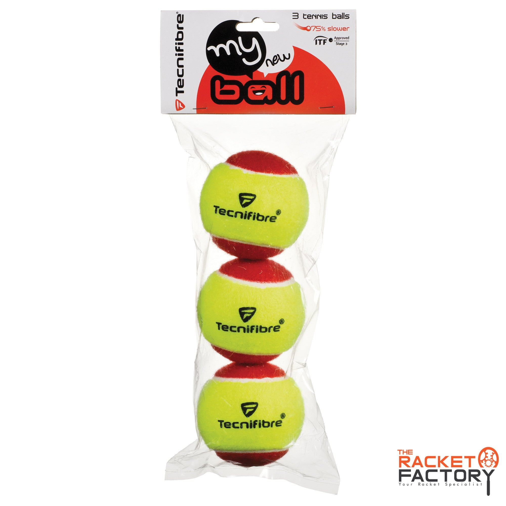 Tecnifibre My New Ball (Felt, Stage 3) - 3 Ball Pack