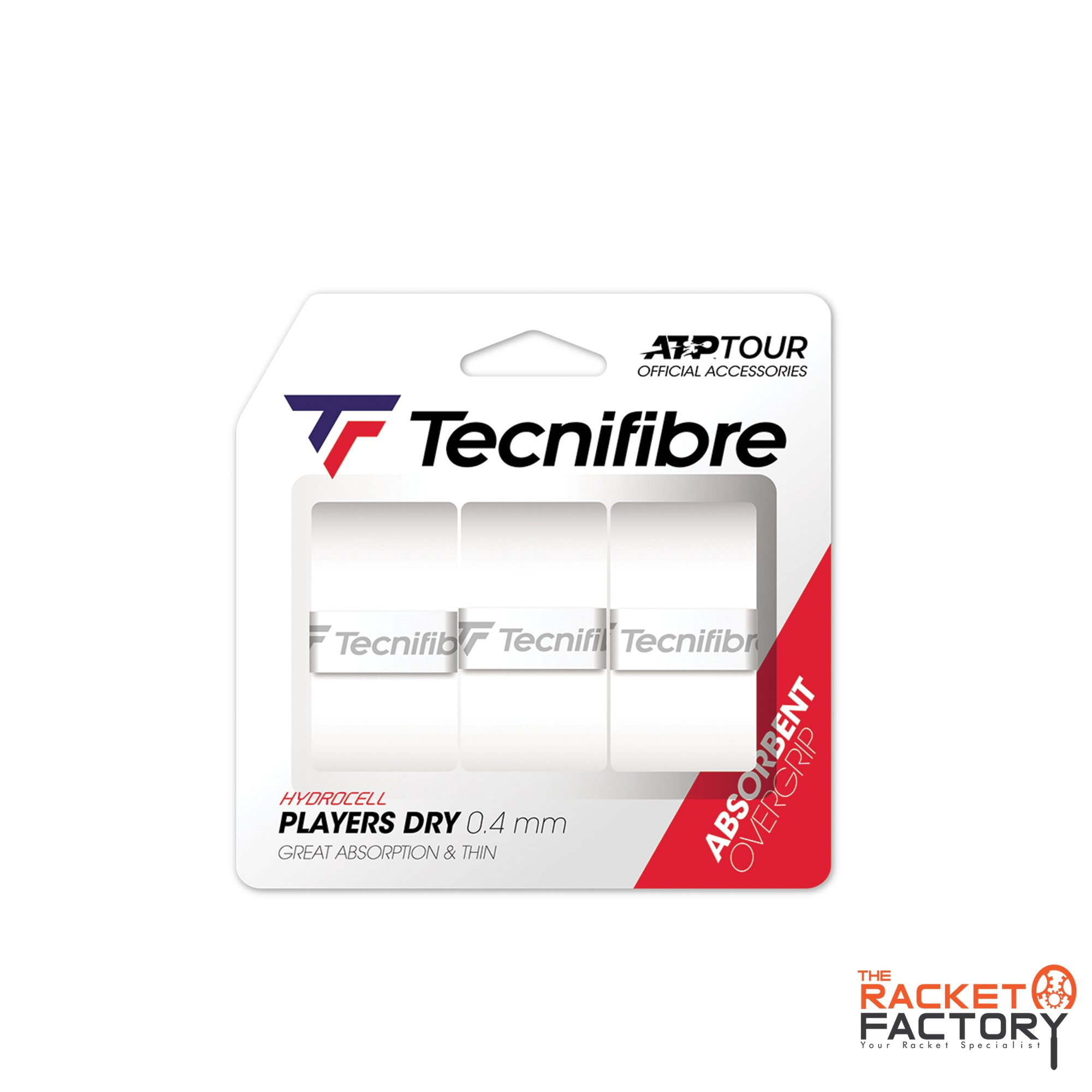 Tecnifibre ATP Players Dry Over Grip - Pack of 3
