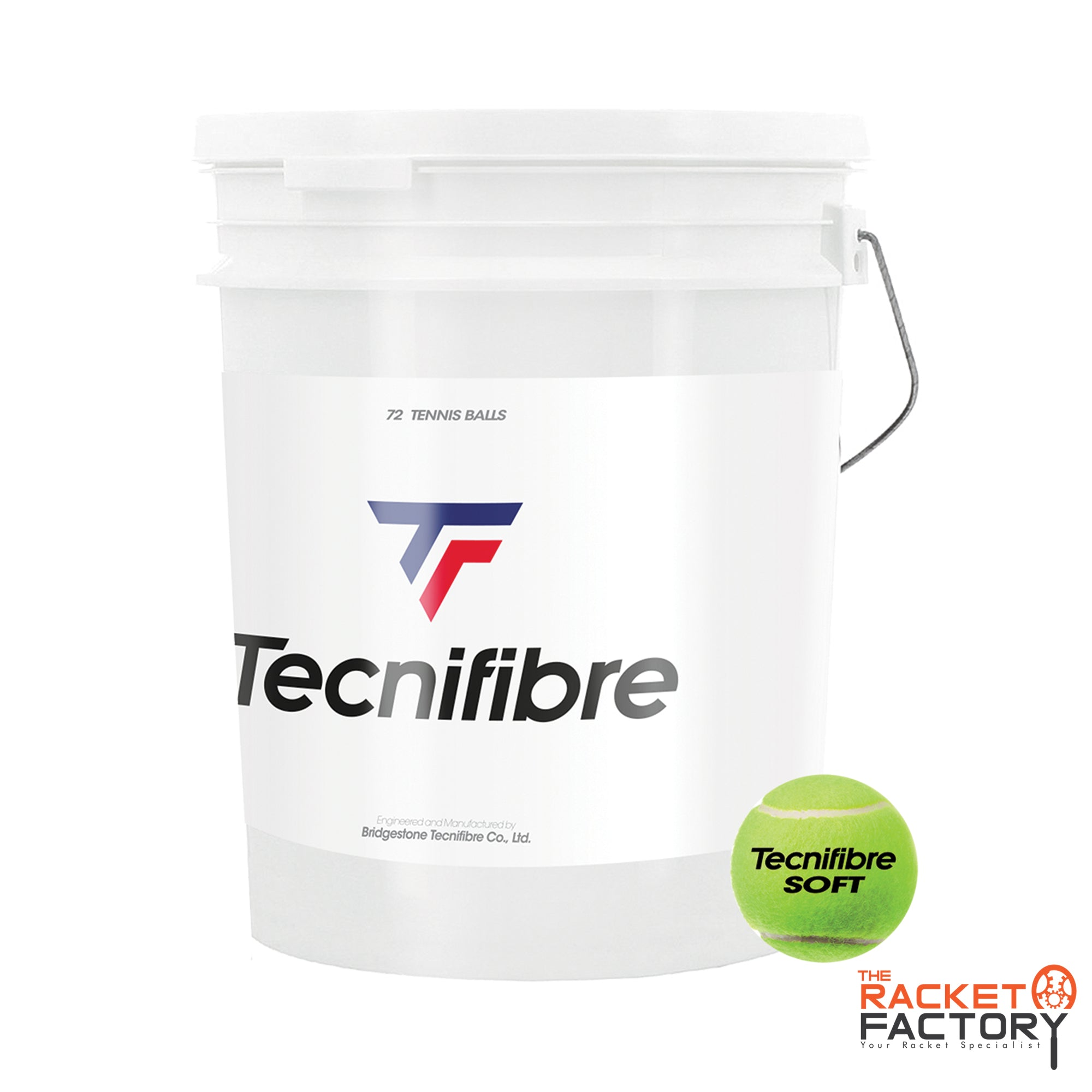 Tecnifibre Soft Ball Bucket of 72 (Stage 1)