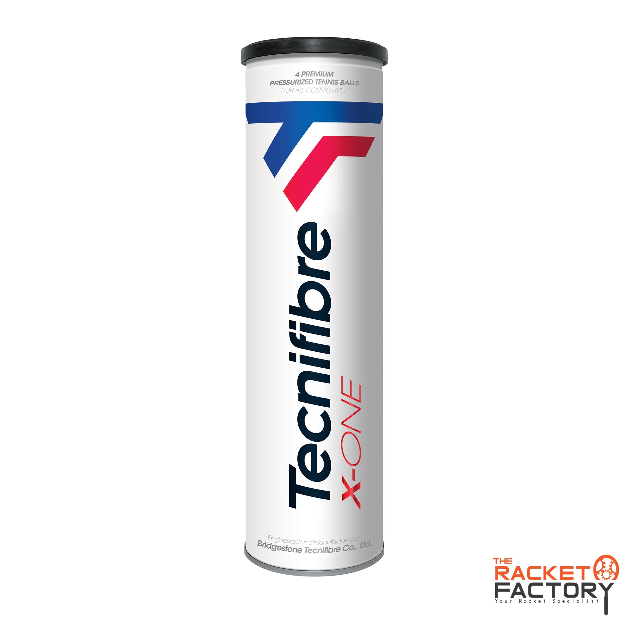 Tecnifibre X-One Tennis Ball - 4 Ball Tube