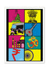 Cool Funky abstract Indian boxes Wall Glass Frame posters, Wall art - stuffpanda - 1