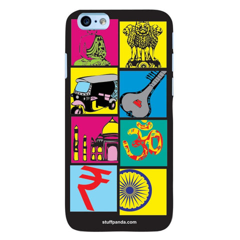 Designer Cool funky Indian Box hard back cover / case for Iphone 6