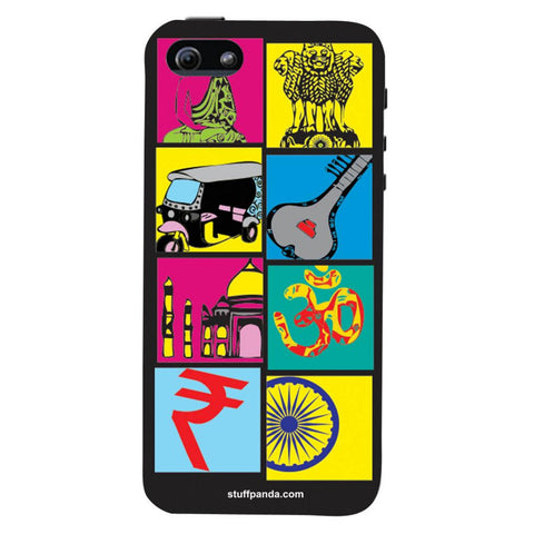 Designer Cool funky Indian Box hard back cover / case for Iphone 5 / 5s