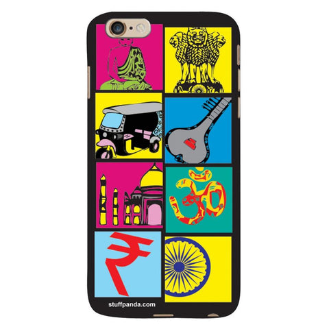 Designer Cool funky Indian Box hard back cover / case for Iphone 6 plus