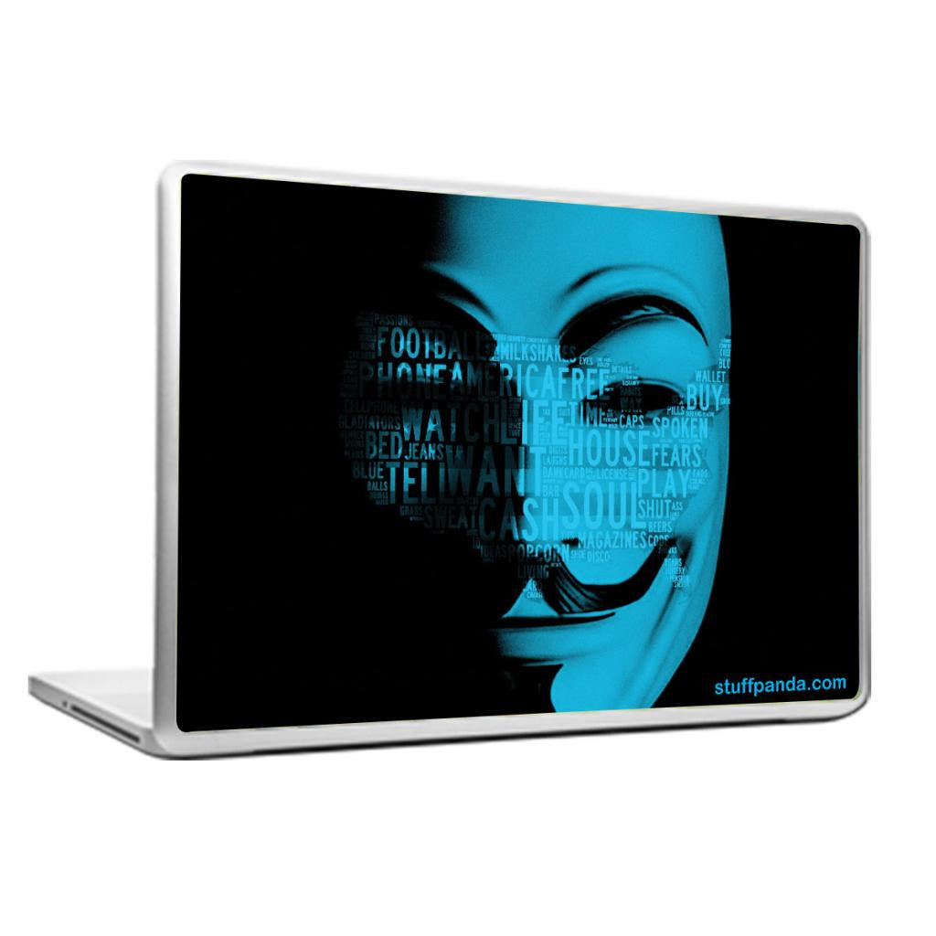 Cool Abstract Minimalist Anonymous face Laptop cover skin vinyl decals - stuffpanda - 1