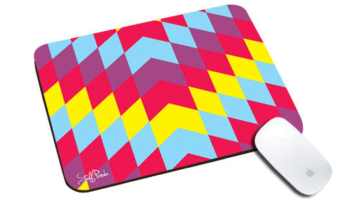 Cool design Abstract Arrow upwards pattern natural rubber mouse pad - stuffpanda