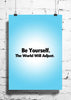 Cool Abstract Motivation World will adjust wall posters, art prints, stickers decals - stuffpanda - 1