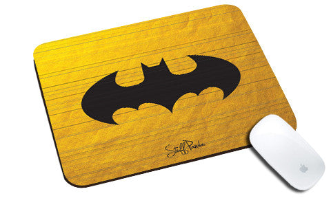Cool design Funky Abstract Batman shutter natural rubber mouse pad - stuffpanda