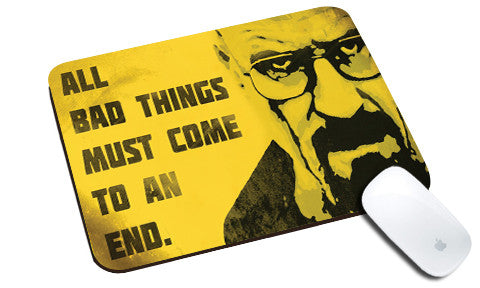 Cool design Breaking Bad natural rubber mouse pad yellow face