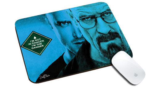 Cool design Breaking Bad natural rubber mouse pad 2 faces